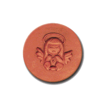 029 Heirloom Rycraft Angel Praying Cookie Stamp | CookieStamp.com