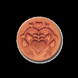 061 Heirloom Rycraft Fuchsia Heart Cookie Stamp | CookieStamp.com