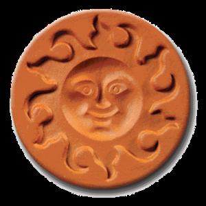 1006 Sunface Cookie Stamp | CookieStamp.com