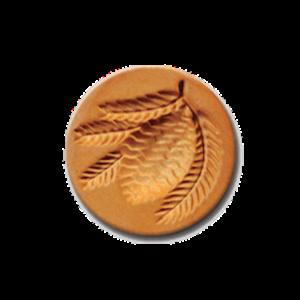 1022 Pine Cone cookie stamp | cookiestamp.com