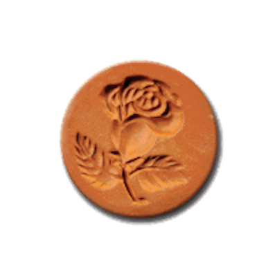 1032 Rose Cookie Stamp | CookieStamp.com