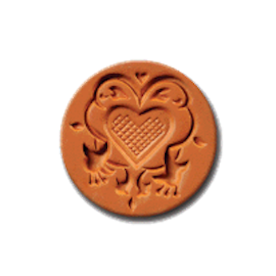 1038 Fuchsia Heart Cookie Stamp | CookieStamp.com
