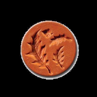 1044 Acorn & Leaves Cookie Stamp | CookieStamp.com