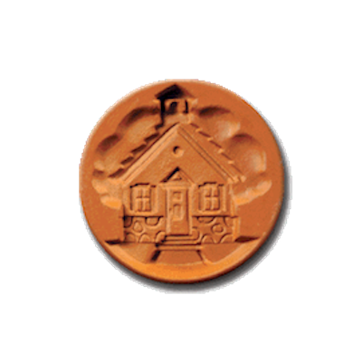 1066 School House Cookie Stamp | CookieStamp.com