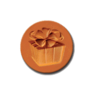 1067 Gift of Love Cookie Stamp   CookieStamp.com