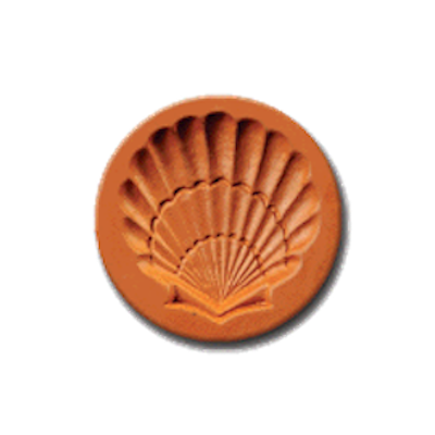 1076 Seashell Cookie Stamp | CookieStamp.com