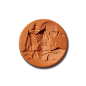 1078 Haunted House Cookie Stamp | CookieStamp.com