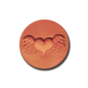 309 Heirloom Rycraft Winged Heart Cookie Stamp | CookieStamp.com