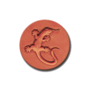 330 Heirloom Rycraft Gecko Lizard Cookie Stamp | CookieStamp.com