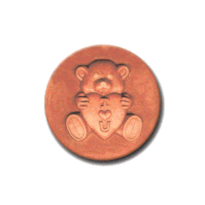 356 Heirloom Rycraft Love Bear Cookie Stamp | CookieStamp.com