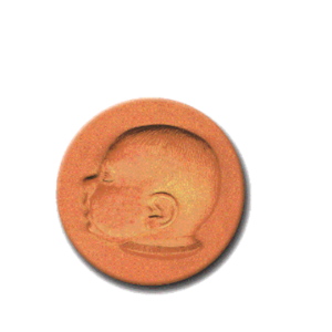 433 Heirloom Rycraft Baby Face Cookie Stamp | CookieStamp.com