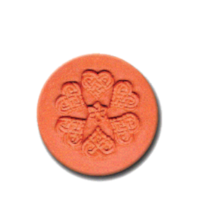 476 Heirloom Rycraft Heart Spiral Cookie Stamp | CookieStamp.com