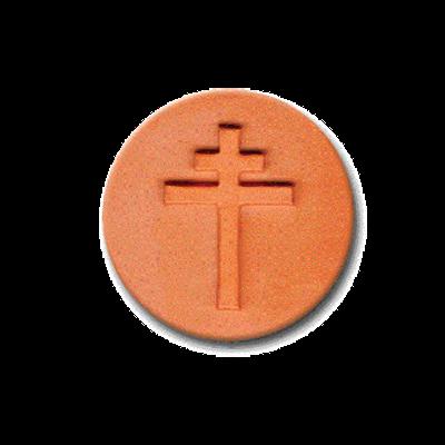 519 Heirloom Rycraft Orthodox Cross Cookie Stamp | CookieStamp.com