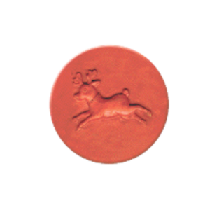900 Heirloom Rycraft Leaping Reindeer Cookie Stamp | CookieStamp.com