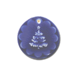 ORN 414 Snow Covered Tree Ornament | CookieStamp.com